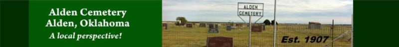 Alden OK Cemetery Header